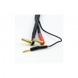 CABO DE CARGA 2S DE 30 CM COM CONECTORES DE 4 / 5MM