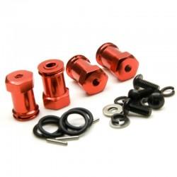 Extensres de eixo Crawler aumenta 25mm cor Vermelho