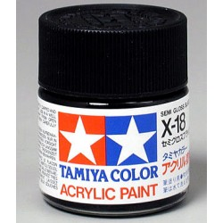 Tinta X-18 Preto Semi Brilho 23ml