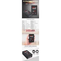 Carregador 2A Lipo HotRc E350 25W p/7.4V y 11.1V c/fonte interna