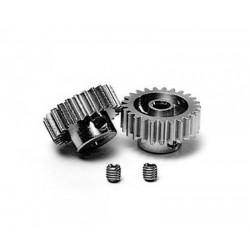 Pinion Gear-Set 24/25T Alu M0.6