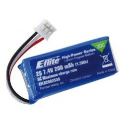 Bateria Li-po E-Flite de 200mAh 7.4V 30C