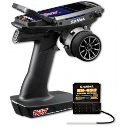 M17-RX-493/WITHOUT SERVOS/TX/RX COLOR TOUCH DISPLAY SANWA SURFACE CH4 2.4GHZ FH5 ULTRA RESPONSE MODE
