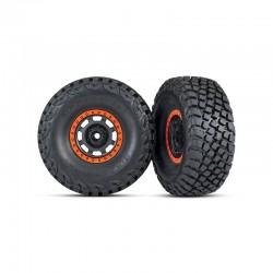 Tires and wheels, assembled, glued Desert Racer