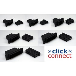"""Click"" connect multipin connector(6pins contacts for 0.2mm2 to 0.5mm2)"