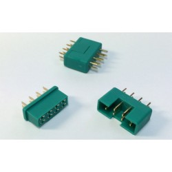 Servo connector 8-pin, plug & socket, 2 pairs