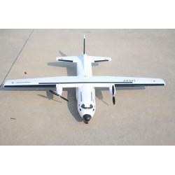 Avião de transporte bimotor Cargotrans C-160 Hercules 1120 mm Wingspan KIT S/Electrónica