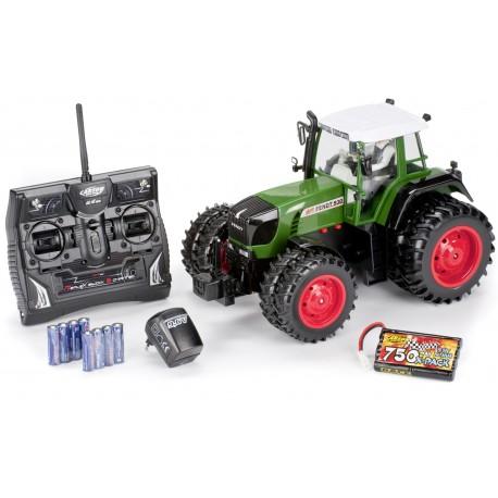 Tractor 1:14 pneus duplos Fendt 2,4 GHz 100% RTR(c/Motorista,6canais, bateria 9.6V, 750mAh e Carregador)