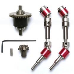 Kit completo upgrade aluminio da transmissão dianteira p/12428, 12429 e 12423