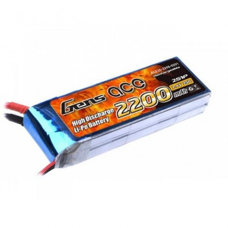 Battery, Gens Ace 2200mah 7.4V 25C 2S1P