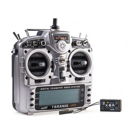 Rádio X8R Plus c/ teelmetria FrSky 2.4GHz ACCST TARANIS X9D c/Receptor