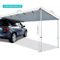 Car Side Roof Top Waterproof Tent 200x300