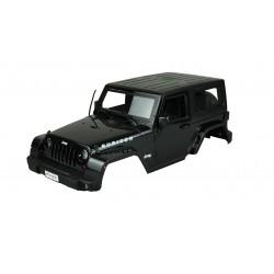 Carroçaria de Plástico ABS Jeep Rubbicon Cor Preta 1/10