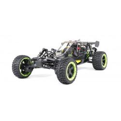 Buggy GAS 1: 5 Rovan Sport 305 PRO 2T motor 30.5CC Fly Sky GT3C Preto-Verde clone HPI BAJA