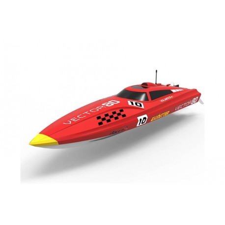 Barco Vector 80VOLANTEX BRUSHLESS BOAT READY SET (NO BATTERY) - RED