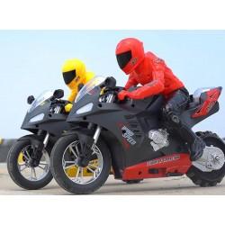 Mota RC 1/6- 20Km/h (35x14,4x26,3 cm) (vermelho ou amarelo)