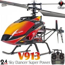 Helicóptero WLToys V913 4CH Brushless 70cm Skydancer