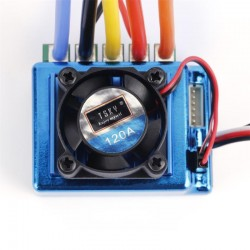 Brushless inverter with 120A TSKY for 1:10 and 1: 8 cars with fan and T-dean connector