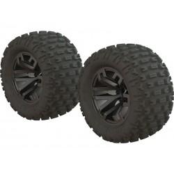 """DBoots """"Fortress MT"""" Tire Set Glued FUn Metal 2.8""""(2)"""