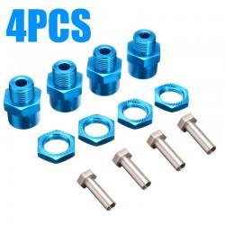 Adaptador de alumínio azul Hexagono Converter roda 1/10 12mm para 1/8 17mm com 10mm Extensão(4pcs)