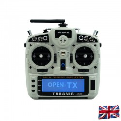 TARANIS X9D plus 2019 EU/LBT FrSky transmitter Ash White with SD-card, EVA-Bag, without accu, 2,4Ghz