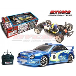 COMPLETE CAR IN KIT SUBARU WRC 2002 EVO SERIES + EQUIPMENT R / C STICKS