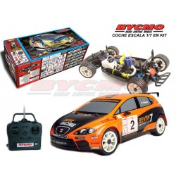 COMPLETE CAR IN KIT SEAT LEON O. NOGUES EVO SERIES 1/7 + R / C STICKS EQUIPMENT