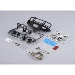 Killerbody ram protection with LED headlights aluminum black for Traxxas TRX-4