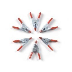 Conjunto de 6 mini pinças para modelagem 50mm - OCCRE