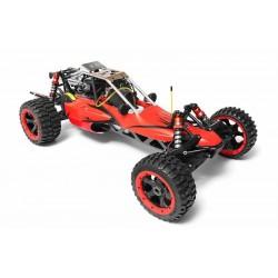 Buggy GAS 1:5 Rovan Sport 305 PRO 2T motor 36cc Fly Sky GT3C Red,clone HPI BAJA