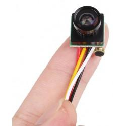 Mini Câmara FPV 120º lente grande angular colorida 600TVL