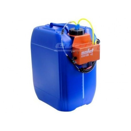 20 l blue filling station with pump and variator