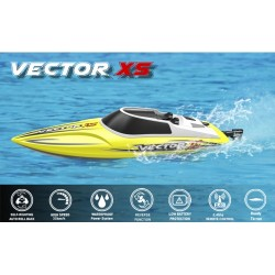 Vector XS Mini Boat with Auto Roll Back Function and Reverse Function RTR 30km/h