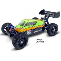 Carroçaria Pintada 1/8 Buggy (37.5x21cm+Autocolantes)