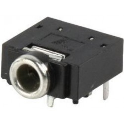Ficha Jack 3.5 Stereo femea p/PCBc/Interruptor