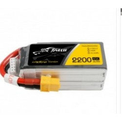 TATTU 2200mAh 14.8V 45C 4S1P Lipo Battery Pack with XT60 Long range version