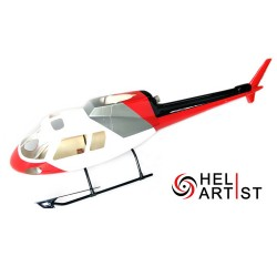 HeliArtist AS350 Ecureuil (red / white / silver)
