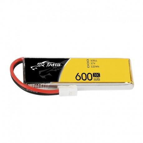 Bateria Tattu 600mAh 3,7 V 30C 1S1P Lipo com plugue Molex