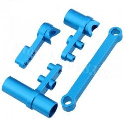 Salva Servo Aluminio Direcção completo para HSP 1/10 Azul