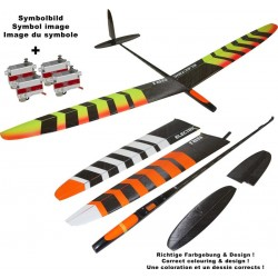 OA-Composites NRJ F5K Electric + KST X08H Servo set color # B white / orange 1490mm