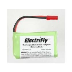 Lipo battery, 800mAh, 7.4V, 2S, no equal plug, 43g