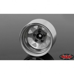 5 Lug Deep Dish Wagon 1.9 Steel Stamped BeadlockWheels Plain RC4WD