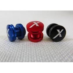 Tampa de Abastecimento com logo X Azul