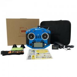 Rádio 2.4Ghz Azul Taranis Q X7S- 7 Canais Modo 2 Inglês(Bateria,Carregador,Mala)