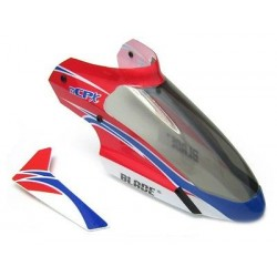 Complete red canopy with vertical fin, Blade mCPx