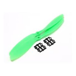 Propeller, 12x4.5P, Pusher Green, ABS+Fiber