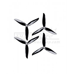 ALPROP T5040C Cyclone Tri-Blade Crystal Black (2 Pairs) Propeller for FPV Freestyle