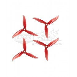 DALPROP T5040C Cyclone Tri-Blade Crystal Red (2 Pairs) Propeller for FPV Freestyle