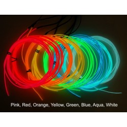 Wire electroluminescent, 1m, green