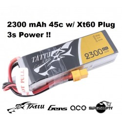 Battery Gens Ace 2300mah 11.1V 45C 3S1P TATTU